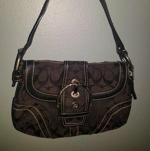 Coach Soho Black Signature Handbag